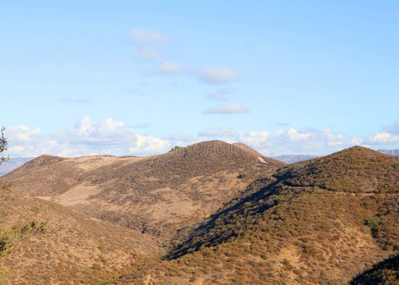加利福尼亚小山横向 免版税库存照片