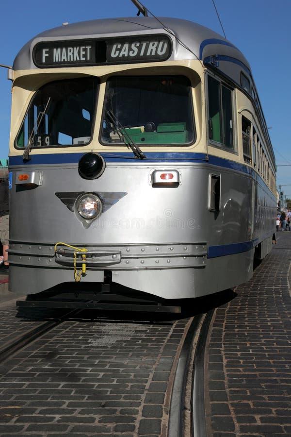 加利福尼亚弗朗西斯科・圣路面电车&# 库存照片