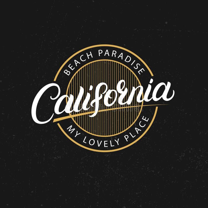 加利福尼亚手书面字法 学院图表 库存例证