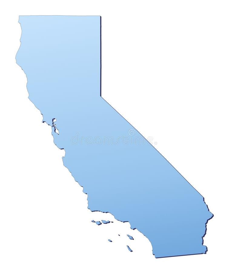 加利福尼亚映射 库存例证