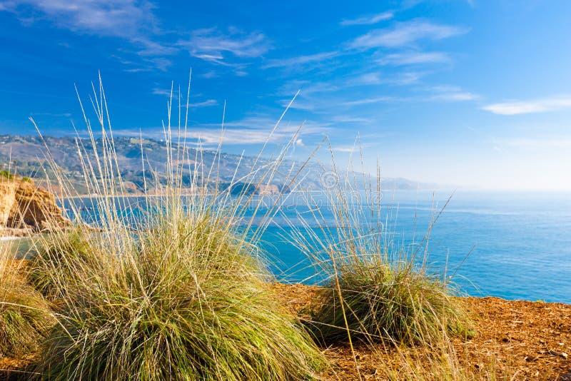 加利福尼亚海岸横向 库存照片