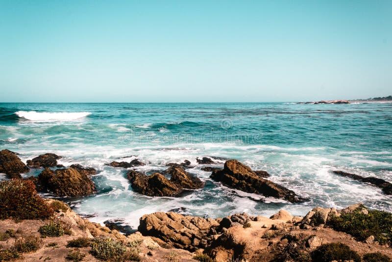 从加利福尼亚海岸的Oceanview,美国 免版税库存图片