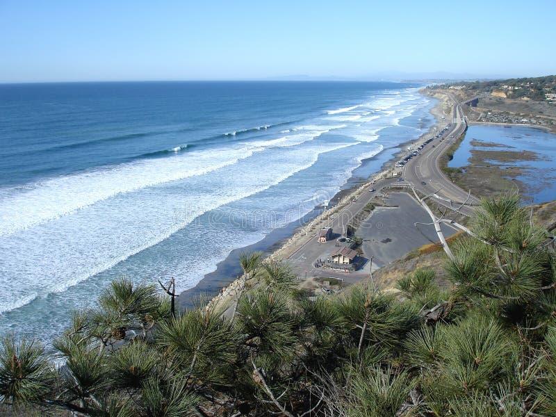 加利福尼亚海岸线 库存照片