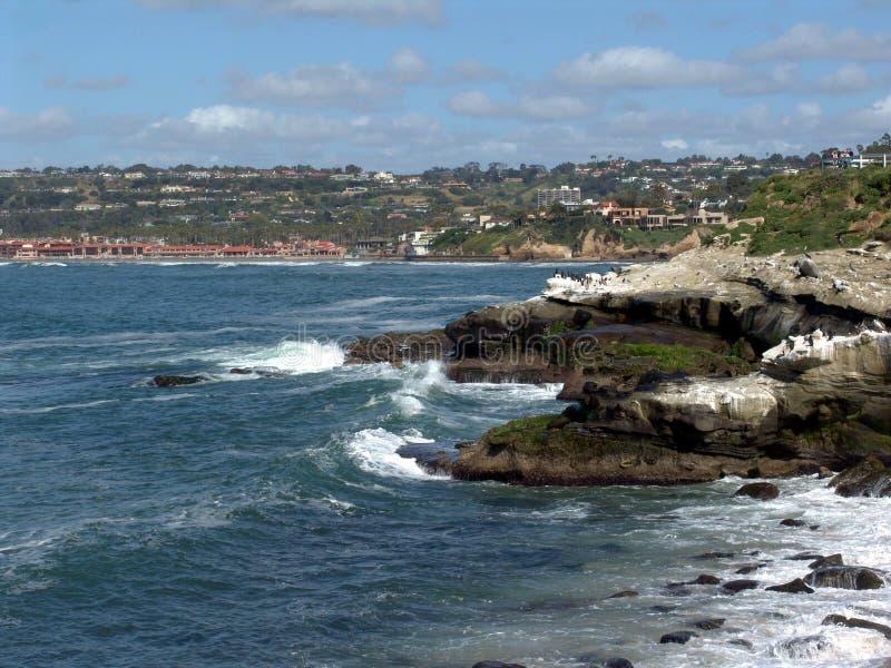 加利福尼亚海岸线jolla la 图库摄影