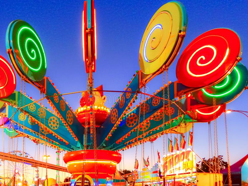 加利福尼亚状态公平的棒棒糖乘驾 免版税库存图片