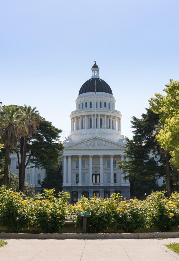 加利福尼亚状态国会大厦大厦在萨加门多 免版税库存照片