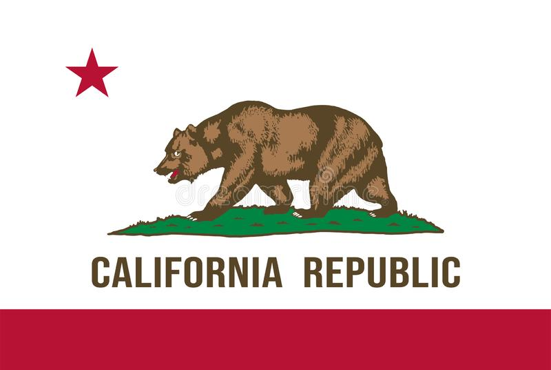 加利福尼亚状态旗子 r 库存照片