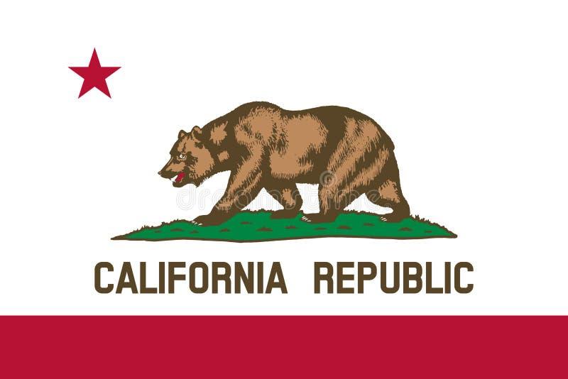 加利福尼亚的旗子 向量例证