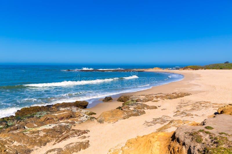 加利福尼亚豆凹陷国家海滩在Cabrillo Hwy 免版税图库摄影