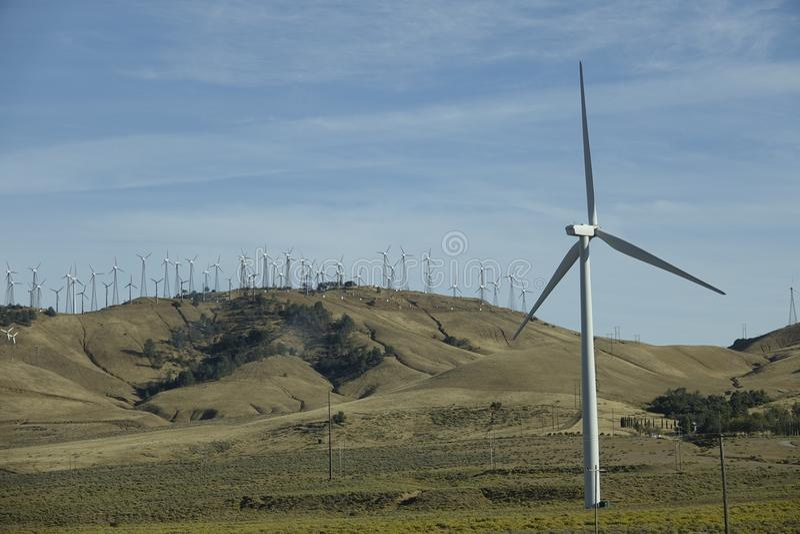加利福尼亚风车  免版税库存照片
