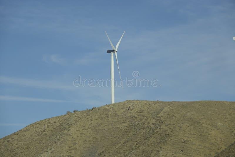 加利福尼亚风车  库存照片