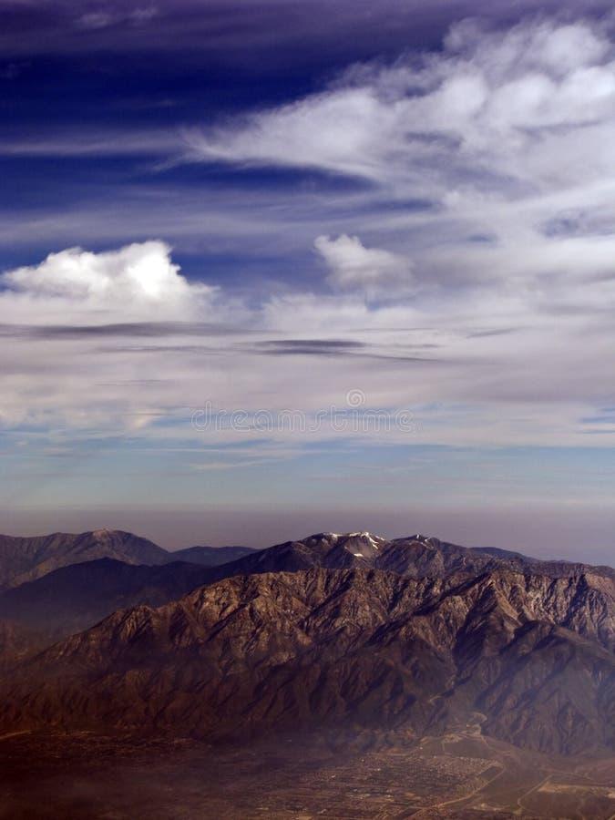 加利福尼亚黎明山 免版税库存照片