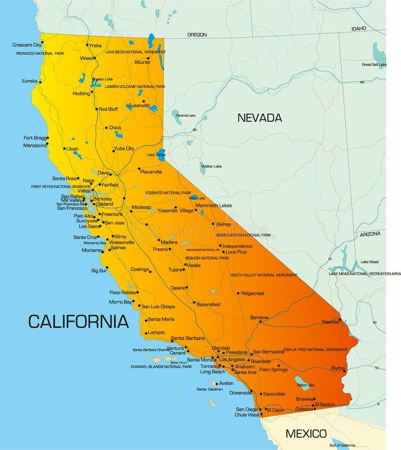 加利福尼亚 库存例证