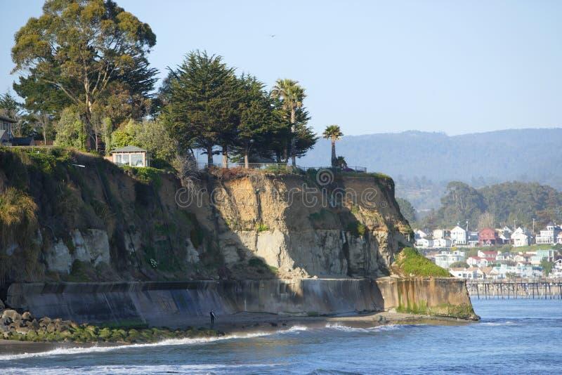 加利福尼亚capitola峭壁海洋 库存图片