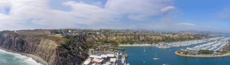 加利福尼亚Dana Point 全景鸟瞰图 免版税库存照片