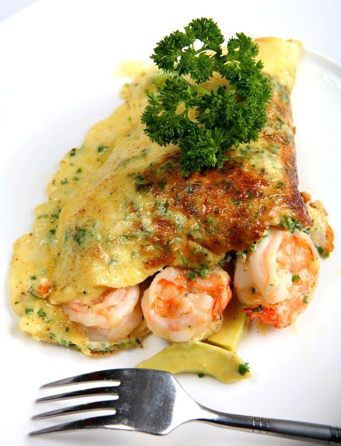 加利福尼亚omlette大虾 免版税库存图片