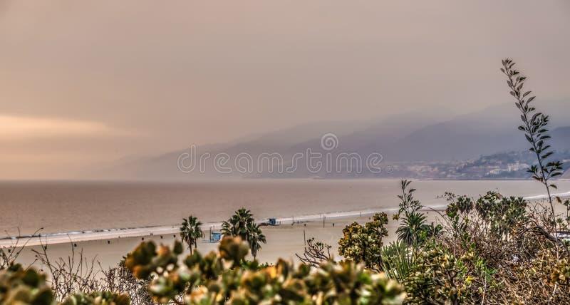 加利福尼亚woosley火抽垂悬在圣莫尼卡 免版税库存图片