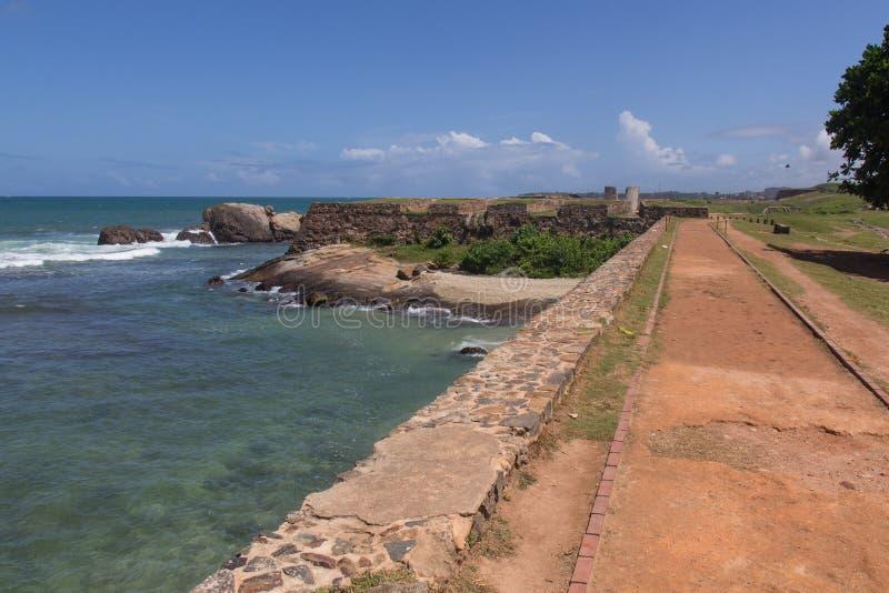 加勒堡垒在斯里兰卡 库存照片