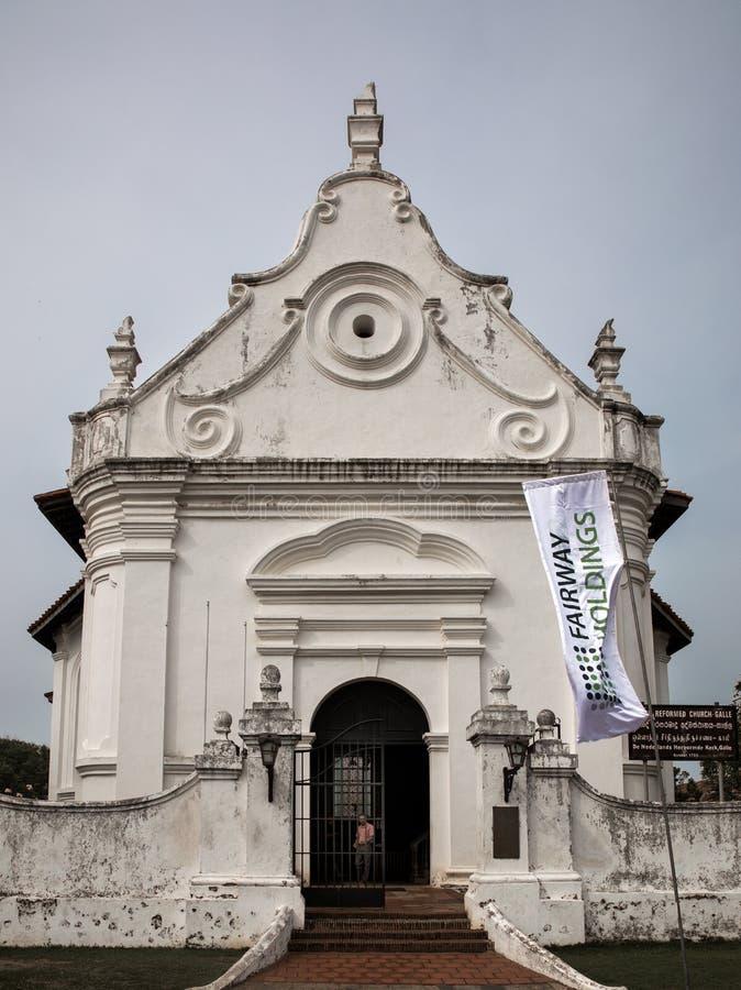 加勒堡垒的荷兰被改革的教会 免版税图库摄影