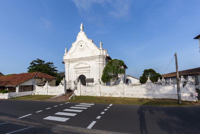 加勒堡垒的,斯里兰卡荷兰被改革的教会 免版税库存照片