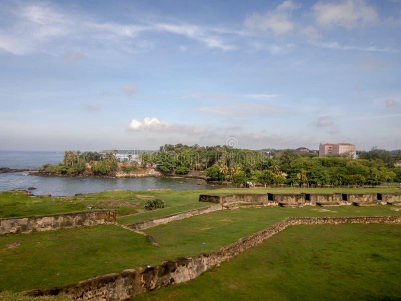 加勒堡垒,斯里兰卡墙壁  库存照片