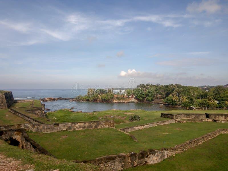 加勒堡垒,斯里兰卡墙壁  免版税库存照片