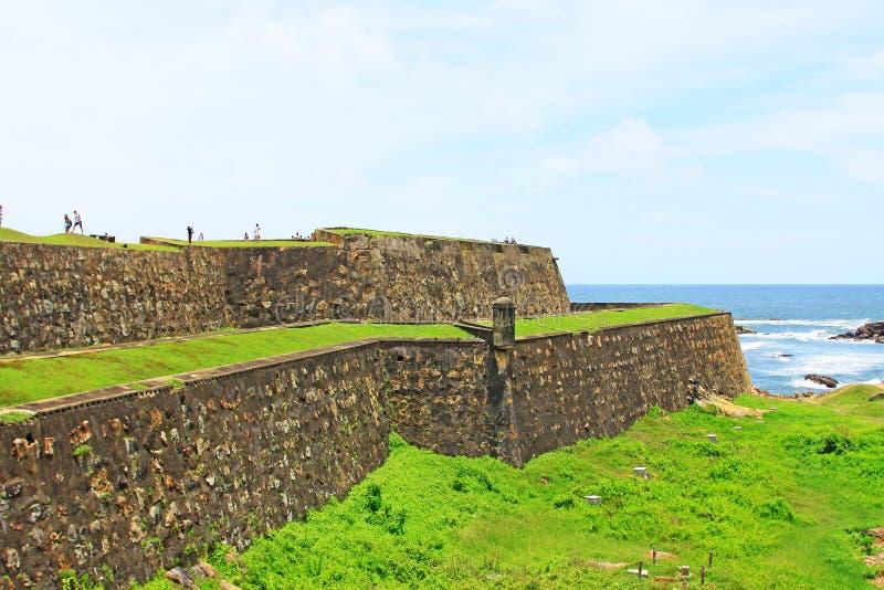 加勒堡垒-斯里兰卡联合国科教文组织世界遗产名录 免版税库存照片
