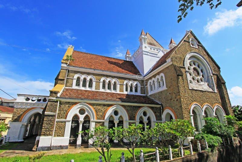 加勒堡垒` s英国国教的教堂-斯里兰卡联合国科教文组织世界遗产名录 库存图片