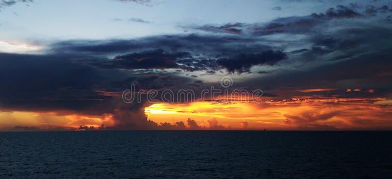 加勒比云彩 库存图片