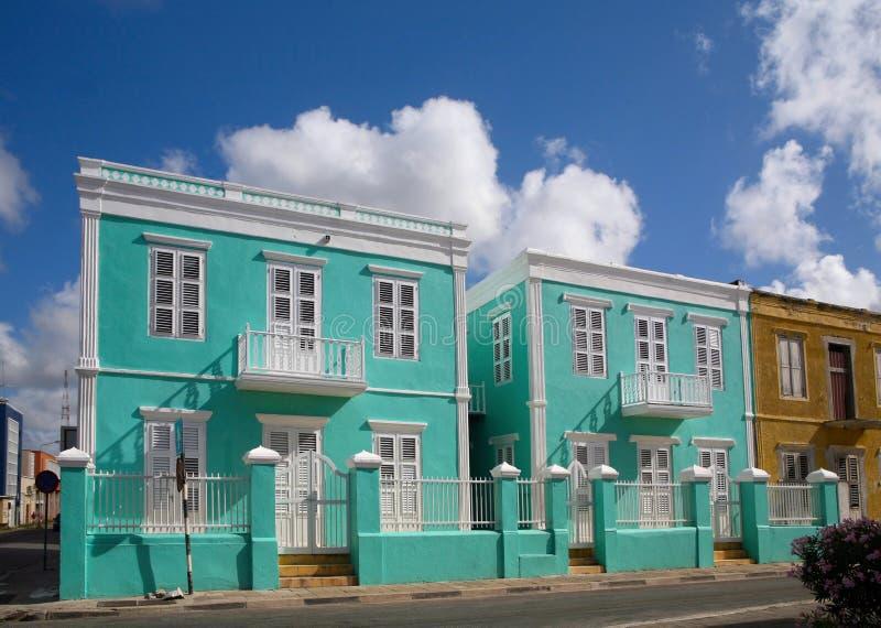 加勒比五颜六色的房子 库存图片