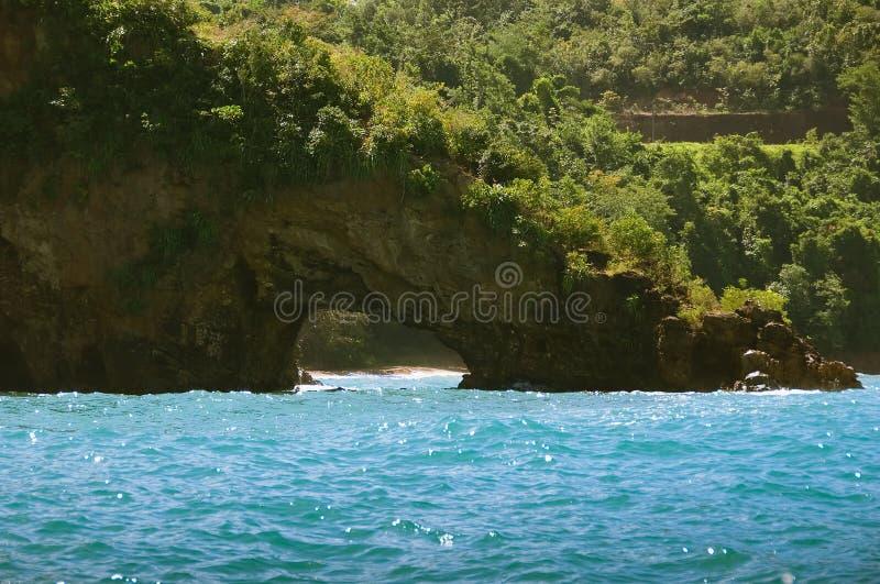 加勒比地点和海滩-圣卢西亚的海盗 免版税库存照片
