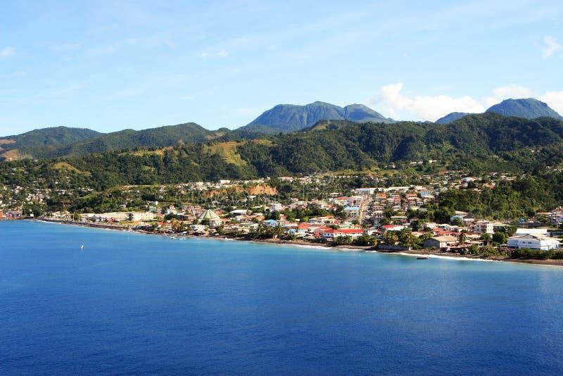 加勒比城市 库存照片