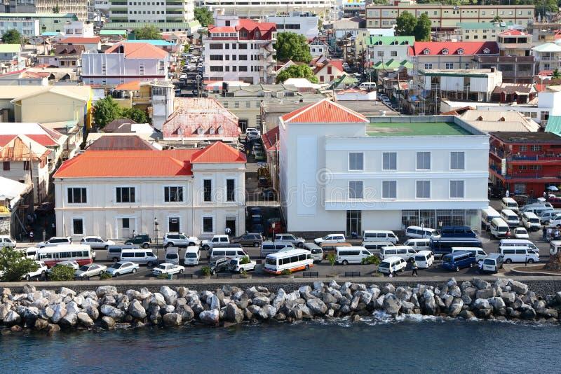 加勒比城市 免版税库存照片