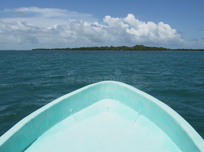 加勒比小船乘驾 免版税库存照片