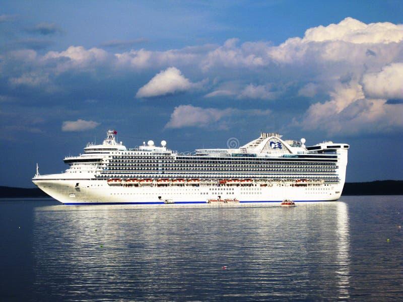 加勒比巡航公主船 免版税图库摄影