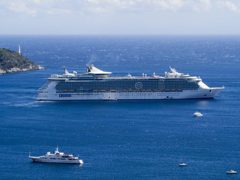 加勒比巡航皇家船 库存图片