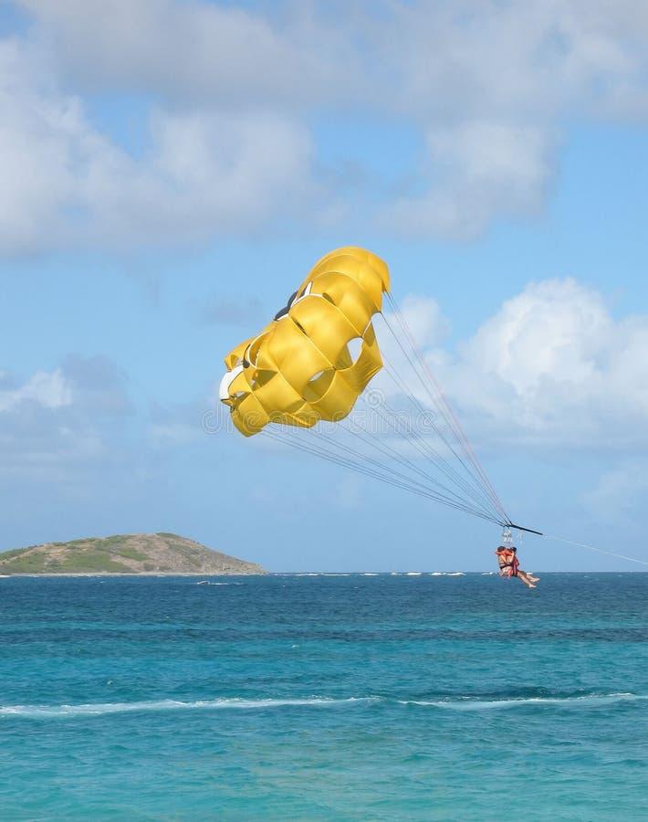 加勒比帆伞运动 免版税图库摄影