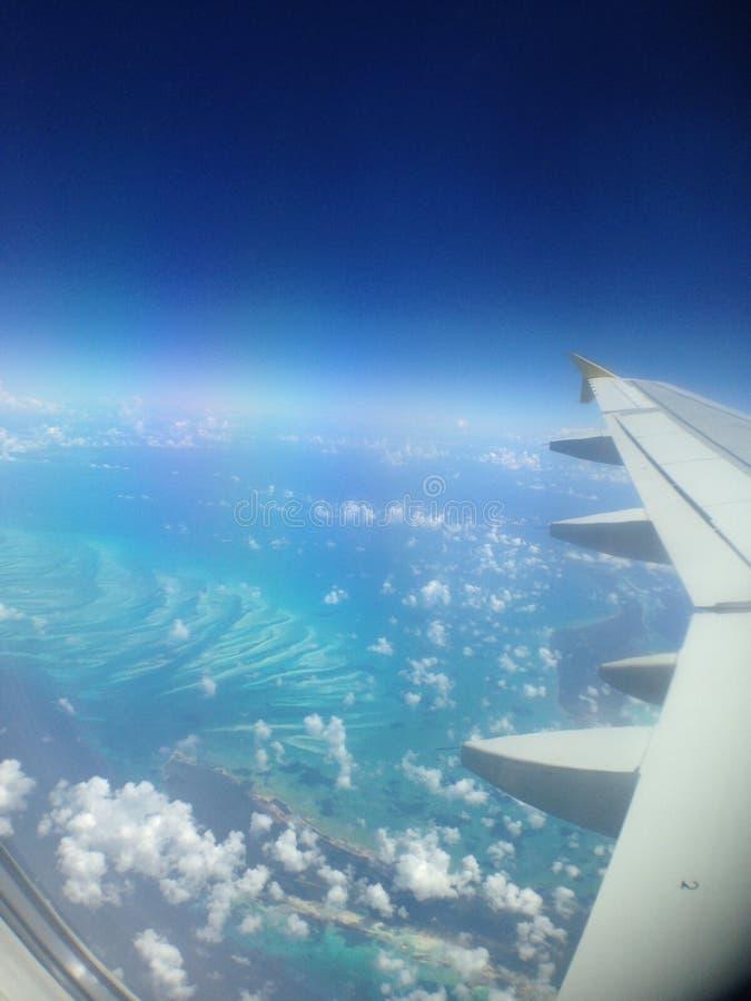 加勒比平面乘驾 库存照片