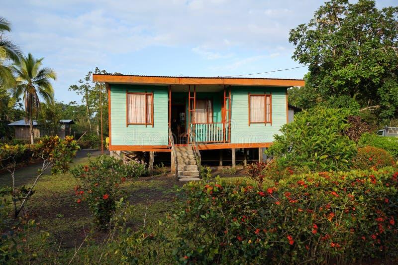 加勒比房子在哥斯达黎加 库存照片