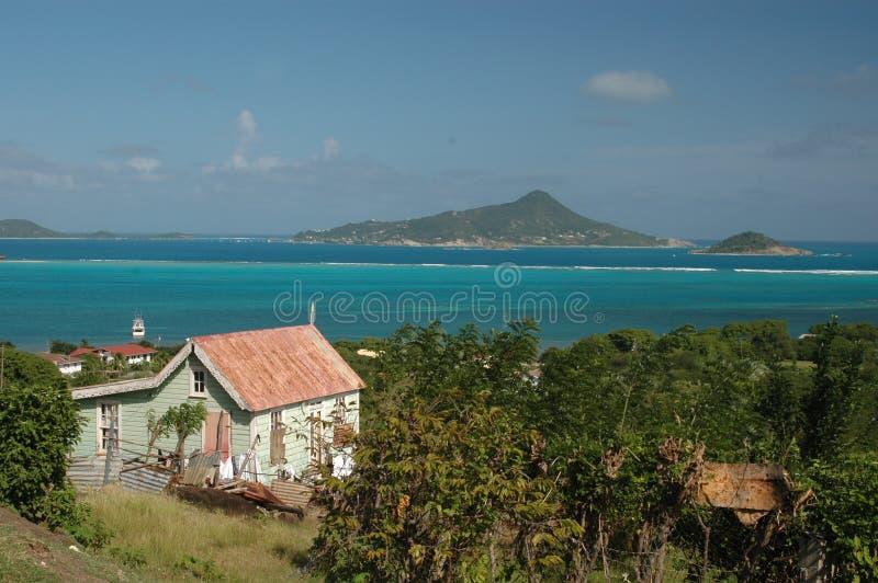 加勒比房子 图库摄影