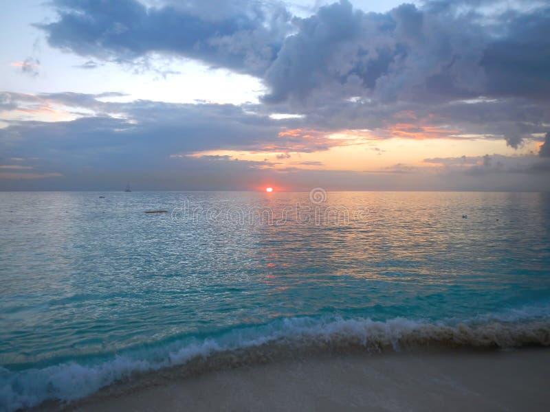 加勒比日落 图库摄影