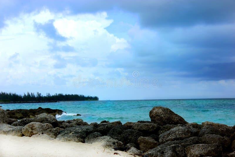 加勒比海岸线 库存照片