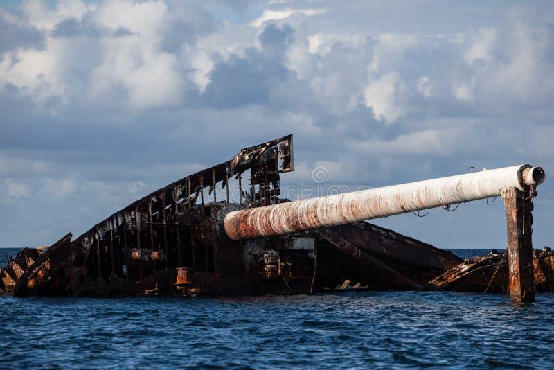 加勒比海海难 库存图片