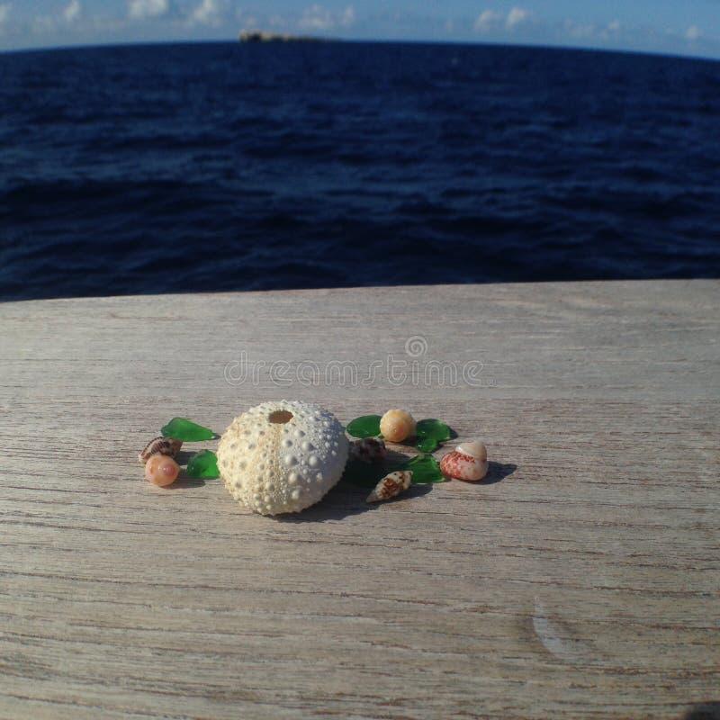加勒比海玻璃 库存照片