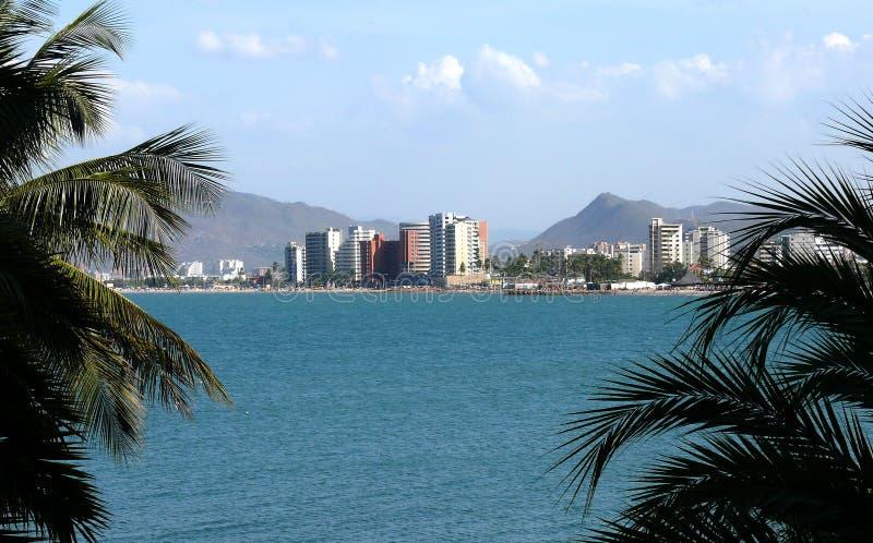 加勒比海边 图库摄影