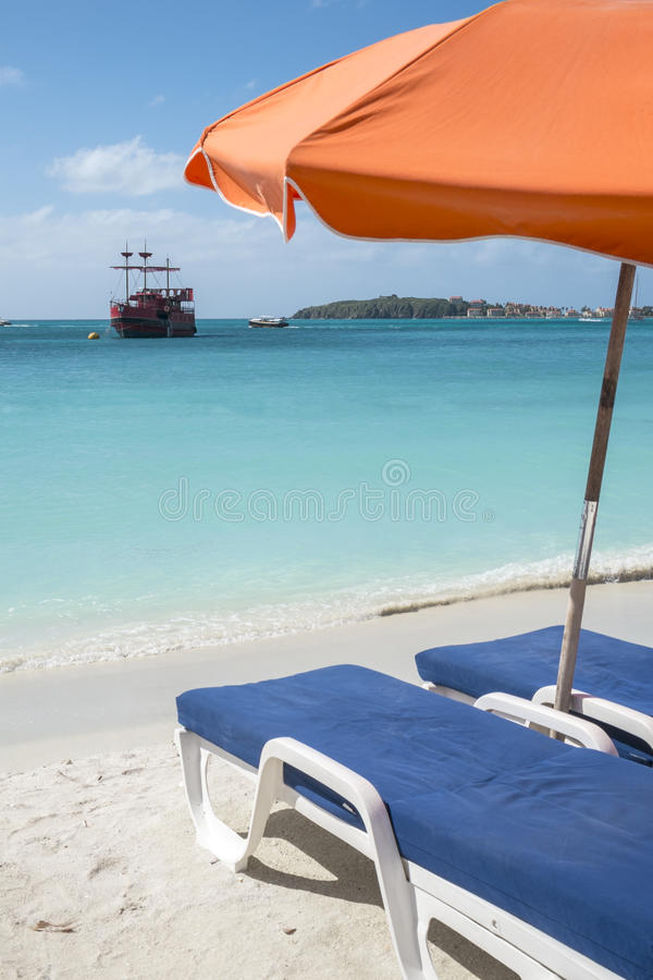 加勒比海滩2 图库摄影