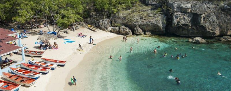 加勒比海滩Playa Lagun库拉索岛 免版税库存照片