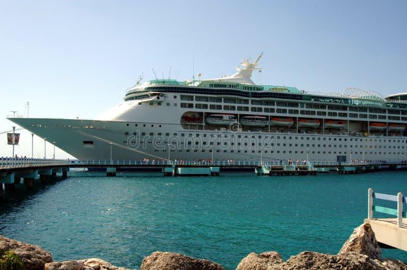 加勒比游轮 库存图片
