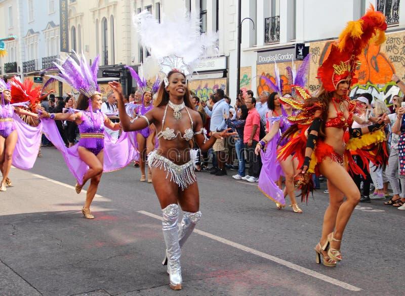 加勒比狂欢节舞蹈家 免版税库存照片