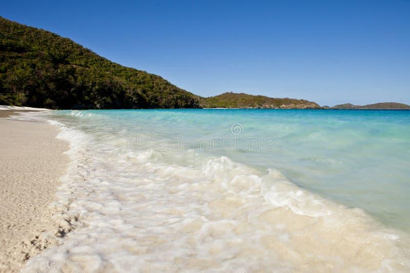 加勒比的绿松石水,圣约翰岛 图库摄影